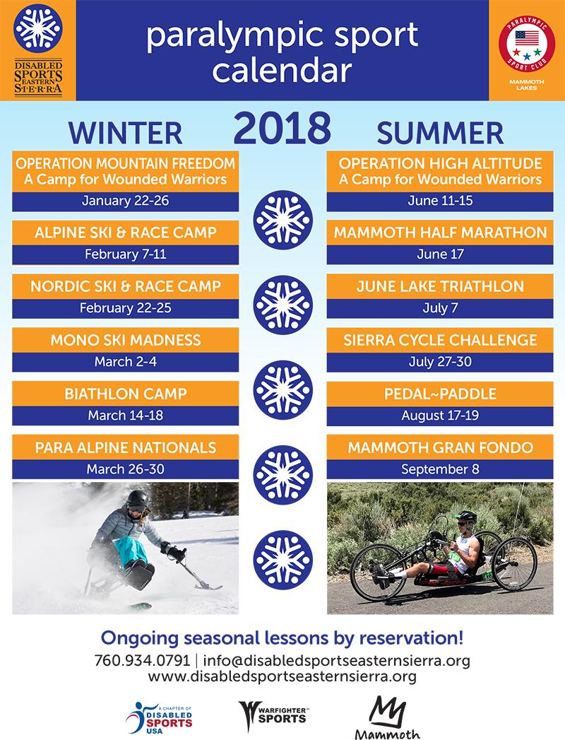 2016 Paralympic Calendar