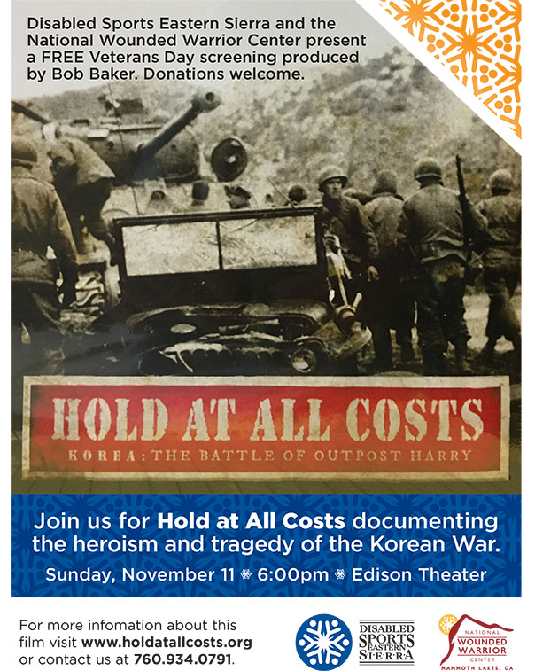 """Film """"Hold at All Costs: Korea, the Battle of Outpost Harry"""" at the Edison Theatre @ Edison Theater   Mammoth Lakes   California   United States"""
